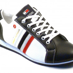 Tenisi TOMMY HILFIGER Oscar Black / White - Tenisi barbati Tommy Hilfiger, Marime: 40, 41, 42, 43, 44