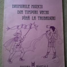 Sanda Mehedincu Drumurile muzicii din timpuri vechi pana la trubaduri Editura Muzicala - Carte educativa