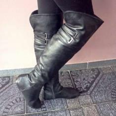 OFERTA!!! cizme peste genunchi - Cizme dama, Marime: 36, Culoare: Negru, Negru