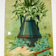 Carte postala - ARTA - NATURA - Ghiocei - Flori - circulata 1909 - Romania -  2+1 gratis toate produsele la pret fix - RBK4067