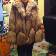 Haina blana naturala vulpe - Palton dama, Maro, Marime: 40