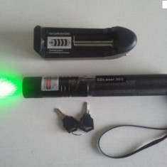 Laser pointer verde de putere mare, 1000mw-1 w REALI-ACUMULATOR-PROTECTIE COPII-PUNCT REGLABIL