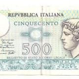 Bancnota Straine - ITALIA 500 LIRE 1974-79 VF