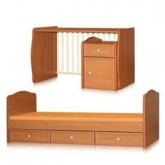 Patut multifunctional Bertoni - Patut lemn pentru bebelusi Bertoni, Altele, Alte dimensiuni, Maro