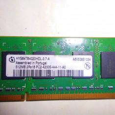 MEMORI LOPTOP RAM 512 MB 2Rx16 PC 2-4200S-11-A0 - Memorie RAM laptop A-data, 400 mhz