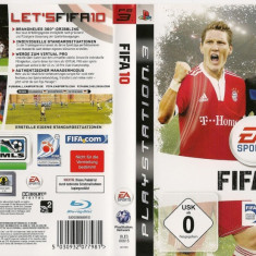 Joc original FIFA 10 pentru consola Sony PS3 Playstation 3 - Jocuri PS3 Ea Sports, Sporturi, Single player