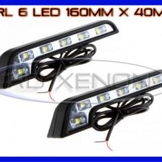 DRL 6-LED 1W - MERCEDES STYLE 160mm x 40mm - DAYTIME RUNNING LIGHT Lumini de zi ZDM, Universal