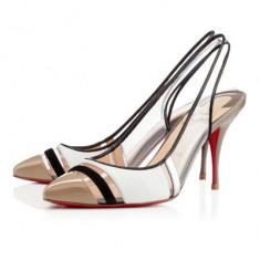 Christian Louboutin Highway - Pantof dama Christian Louboutin, Marime: 37, Culoare: Alb, Alb