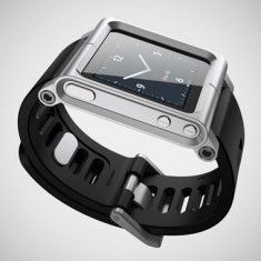 BRATARA CUREA LUNA TIK IPOD NANO IN iWATCH SILVER LUNATIK 6TH GENERATION NOU, Altele