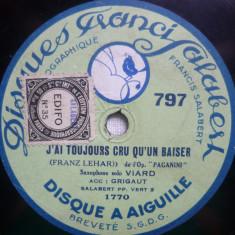 Disc gramofon Disques Fracis Salabert - Franz Lehar