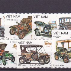 Transporturi, masini vechi, Vietnam. - Timbre straine, Asia