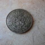 Lot 1. 5 francs / franci 1870 Leopold Belgia, argint