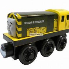Trenulet de jucarie, Lemn, Unisex - Wooden trenulet jucarie Thomas - IRON BERT locomotiva din lemn cu magnet - NOU