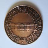 MEDALIA AL 16 LEA CONGRES ANUAL ARA BUCURESTI 1991 - Medalii Romania