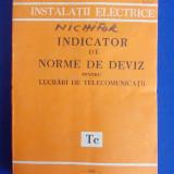 INDICATOR DE NORME DE DEVIZ PENTRU LUCRARI DE TELECOMUNICATII ( Tc ) - 1981
