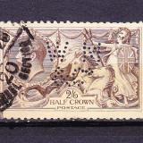 Timbre ANGLIA 1913 = KING GEORGE V 2, 60 Shil, PERFORATA, VEZI FOTO 2