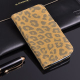 Husa protectie piele SAMSUNG GALAXY S2 / S2 PLUS  lux, tip portofel, model leopard, culoare - maro - LIVRARE GRATUITA prin Posta la plata cu cardul