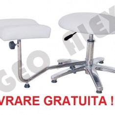 Suport pedichiura cu picior, scaun reglabil pe inaltime profesional
