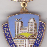 Insigna Fruntas in gospodarirea Orasului 1986