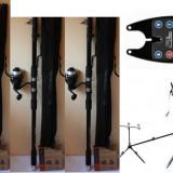 Set (1 Rod Pod FL 3 posturi+3 Avertizori / Senzori +3 Swingeri+3 Mulinete +3 Lansete Telescopice 3, 6 Metri) - Lanseta