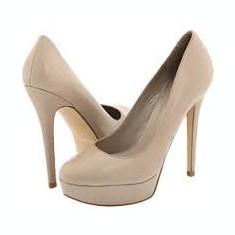 Pantofi dama Aldo, Marime: 39, Bej - Pantofi platforma Aldo, toc 13, marimea 39, culoare bej-gri