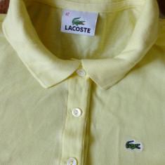 Tricou Lacoste; marime 42: 49 cm bust, 50.5 cm lungime, 38.5 cm umeri; bumbac - Tricou barbati Lacoste, Culoare: Din imagine