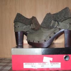 Pantofi dama - Botine MERAVIGLIOSA cu tinte model nou 2014