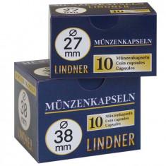 CUTIE CAPSULE pentru monede ( 10 buc ) LINDNER Ǿ 28 mm