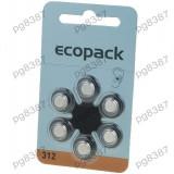 Baterie AC312, R36, zinc - aer (ZnO2), 1, 4V, Varta, pentru aparate auditive - 050351