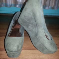 Mocazie! Pantofi h&m noi - Sandale dama H&m, Marime: 39, Culoare: Khaki