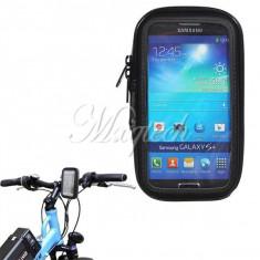 Suport telefon bicicleta - Suport bicicleta motocicleta impermeabil Waterproof Samsung Galaxy S4 i9500 i9505 + folie ecran expediere gratuita Posta - sell by PHONICA