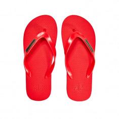 Slapi barbati Armani Exchange - Slapi/Pantofi plaja Armani Metal Plate Flip Flop rosii 44 45