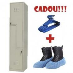 VESTIAR METALIC CU 2 USI Z, ECO + CADOU!!! (5 buc Umeras vestiar + 100 buc Botosei)