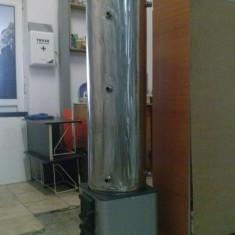 Boiler pt.apa calda, lemne si solar, INOX 3mm, 130 litri