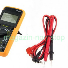 Aparat De Masura -- Multimetru Digital Profesional DT-9205A Carcasa Antisoc - Multimetre