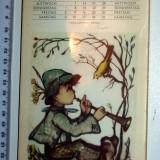 CALENDAR TIP CARTI POSTALE PENTRU COPII 12 BUC - HUMMEL 1970