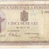 1.Bancnota 500 lei 1 XI 1940