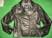 Geaca/jacheta imitatie de piele pt fete de 11-12 ani, 152 cm, de la Young Dimention. Stare excelenta. foto
