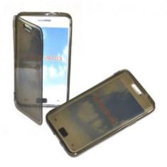 Husa silicon flip Samsung Galaxy S2 i9100 + folie ecran + expediere gratuita Posta - sell by Phonica, Gri