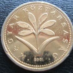 Monede Straine - (865) UNGARIA 2 FORINTI PLACATA CU AUR