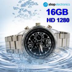 Ceas Business cu Camera Spion HD1280, Memorie 16GB, SPY DVR, Foto 3264x2448, 5MP, Mai mare de 8 GB