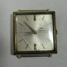 Ceas de mana - WALTHAM - VINTAGE - CEAS ELVETIAN DE COLECTIE - ELVETIAN - ANII 1950 - 60 - 17 RUBINE - STARE DE FUNCTIONARE - DIMENSIUNI 28 X 28 CM