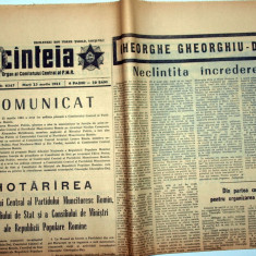 ZIAR VECHI - MOARTEA LUI GHEORGHE GHEORGHIU DEJ - SCINTEIA / SCANTEIA - 23 MARTIE 1965