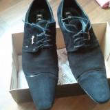 Pantofi piele intoarsa Digad 22 - Pantofi barbati, Marime: 44, Culoare: Negru