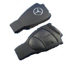 Carcasa telecomanda cheie Mercedes 3 butoane emblema metal - Carcasa cheie