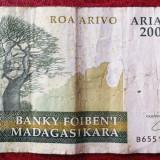 Bancnota Straine, Africa - Madagascar 2000 ariary circulata **