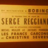 Bilet concert - Bilet cu tarif redus la concertul actorului-cantaret Serge Reggiani de la Bobino-Paris