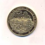MEDALIE MEDALION-L'HISTOIRE de FRANCE, argint VERMEILE 38 grame, marcaj 296 80 p