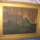 Tablou peisaj vechi, pictor olandez J. Verbeuogen
