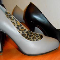 Pantofi dama, Marime: 36, Gri - Pantofi Bonprix, marimea 36, NOI, piele ecologica, extrem de comozi. culori : gri si negru